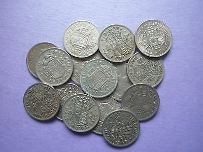 GT BRITAIN -15 x CIRCULATED GEORGE VI & ELIZABETH II COLLECTABLE HALFCROWN COINS