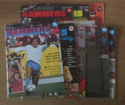 West Ham Hammers Monthly Magazines, first issues run. Early 1980s