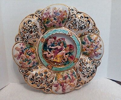 Capodimonte  Wall Charger, Signed