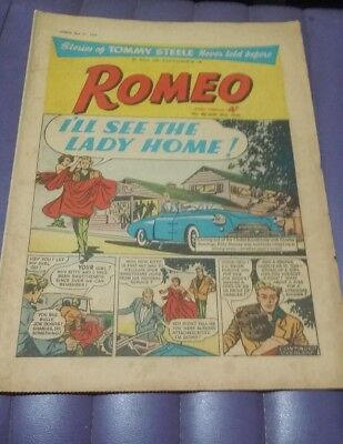 Romeo girl's comic Tommy Steele May 31 1958