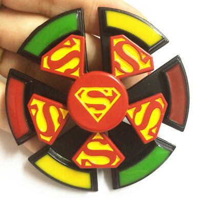 2 in 1 cool Super Hero Fidget Spinner with Rudder EDC Game Metal Gyro Toy