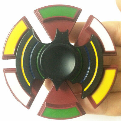 2 in 1 Bat stytle Fidget Spinner with Compass EDC Game Metal Gyro desk toy B7
