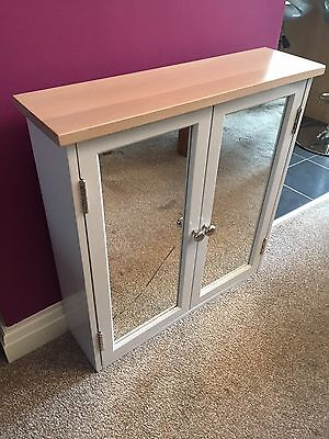 John Lewis Croft Collection Blakeney Double Mirrored Bathroom Cabinet RRP £175