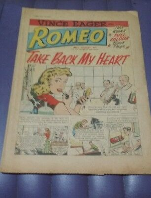 Romeo girls' comic Vince Eager August 29 1959