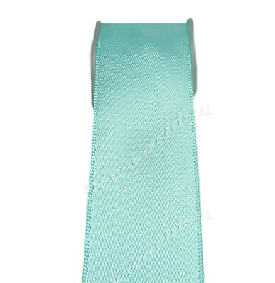 "4y 57mm 2 1/4"" Aqua Premium Double Faced Wide Heavy Satin Ribbon Eco FREE PP"