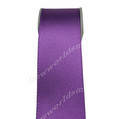 "4y 57mm 2 1/4"" Ultra Violet Premium Single Sided Wide Satin Ribbon Eco FREE PP"