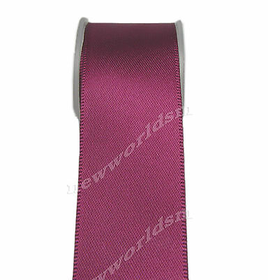 "4y 57mm 2 1/4"" Wine Premium Single Sided Wide Satin Ribbon Eco FREE PP"
