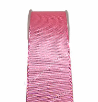 "4y 57mm 2 1/4"" Hot Pink Premium Single Sided Wide Satin Ribbon Eco FREE PP"