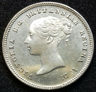 1846 MAUNDY FOURPENCE. Victoria British silver coins.