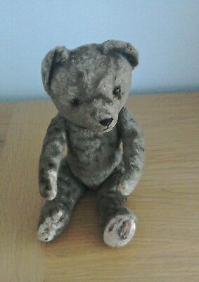 1920/30's Vintage Teddy Bear moveable joints. Well loved child's possession