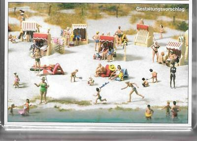Preiser 16357 1/87 - H0 Scale - 120 People at the Beach Model Kit