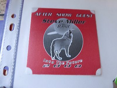 Steve Miller Band Into the Future Tour 2000 Pass - Otto