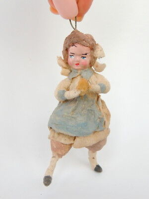 30's Vintage Antique Russian Soviet USSR Paper Mache Christmas Doll Hand Made #