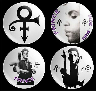 prince 4 x 30mm button badges