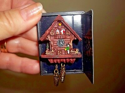Black Forest  Cuckoo Clock - Resin  -  Reutter Porcelain - Germany