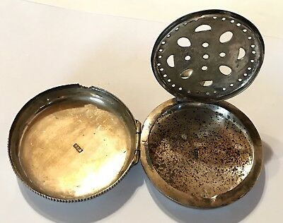 Antique Victorian 1800's IGA Sterling Silver Vinaigrette Pocket Watch Style