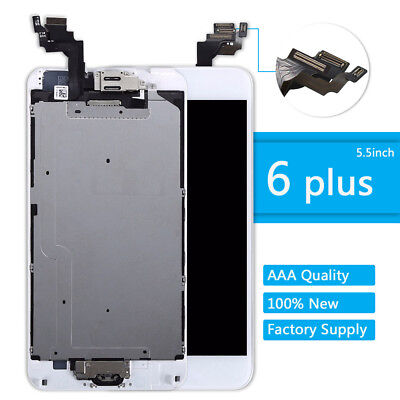 For iPhone 6 Plus LCD Touch Screen Display Full Replacement +Home Button +Camera
