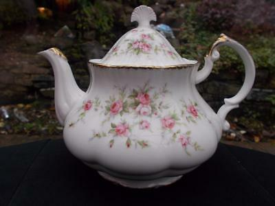 Vintage Paragon Teapot Victoriana Rose Pattern In Good Condition