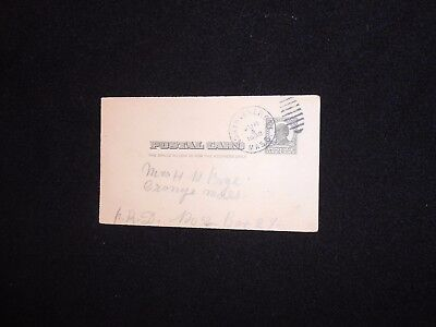 US postal card one cent Mckinley 1908