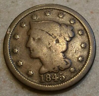 ☆☆ 1845 Large Cent ☆☆ Great Starter Coin ☆☆