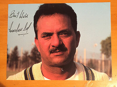 1974 Madan Lal India Test Player Signed Photograph vgc