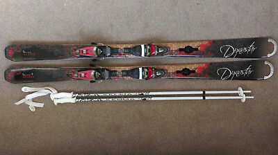 Brand new Dynastar Exclusive Active N 2011, 152cm skis, binding & poles with bag