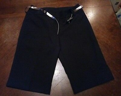 Womens size 10 black knee length smart work trouser shorts from New Look