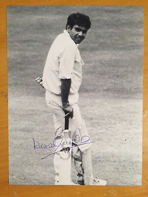 1982 Rakesh Chandra Shukla India Test Player 1 test v SL Signed Photograph vgc