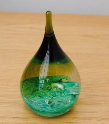Caithness Glass Paperweight  Moodrop Limited Edition 1980S Colin Terris