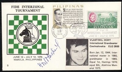 Philippines - 1976 Chess Cover SIGNED by Vlastimil Hort, , Czechoslovakia