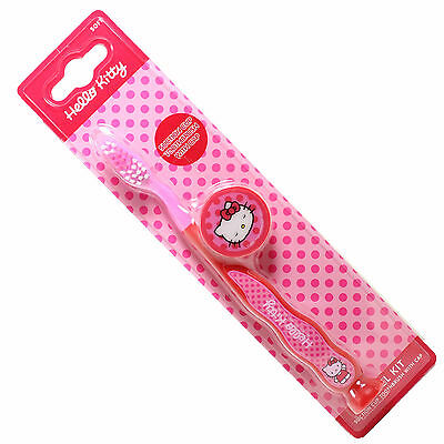 SANRIO Hello Kitty Travel Kit Toothbrush with Suction Cup and Cap