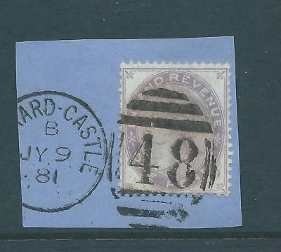 Queen Victoria Fiscal Revenues Stamp One Penny Inland Revenue Postally Used 6