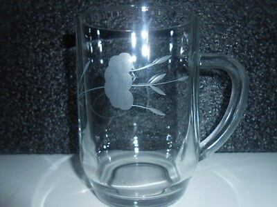 Princess House Cut Glass Tankard made in France / PERFECT - SEE PHOTOS