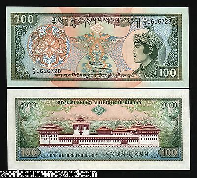 Bhutan 100 Ngultrum P20 1994 King Dragon Palace G/3 Unc Rare Currency Money Note