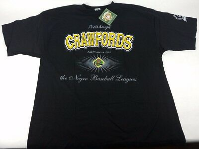 "NLBM Mens New Pitsburgh Crawfords ""Discover Greatness"" T-Shirt Black XXL Cotton"
