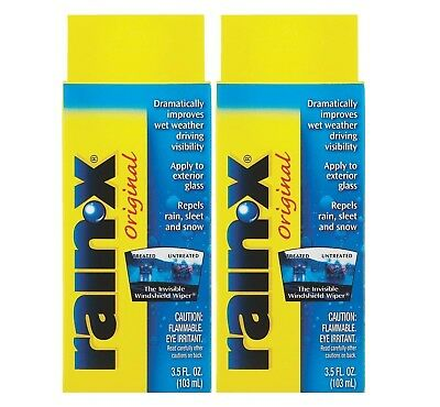 Rain-X Glass Water Repellent Treatmeant-3.5oz for Enhanced Visibility Pack of 2