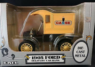 CASE - 1905 Ford Delivery Car Coin Bank - 1987 - 1:25 ERTL - New