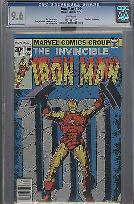 Iron Man #100 Cgc 9.6 Mandarin Appearance  White Pages