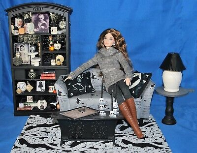 OOAK Contemp. Gothic/Witch's Living Room w/Cabinet, Couch, Coffee & Side tables