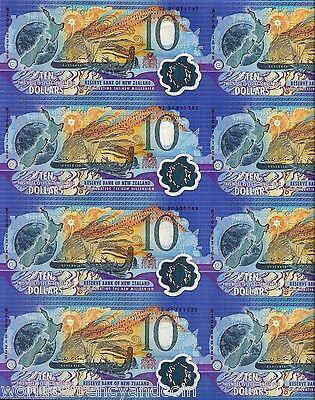 New Zealand $10 P190 2000 *uncut Complete Sheet Of 20 Commemorative Polymer Note