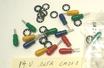 19 Peanut Ultra Miniature Indicator Lights 14V Chicago Mini.#CM26-2, Made in USA