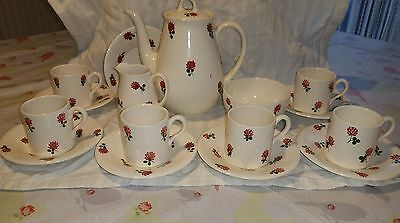 Superb Rare Plichta Wemyss Coffee Set Demi Tasse Complete