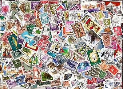 100 WORLD STAMPS section kiloware 100 different off paper good used