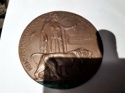 ww1 death penny death plaque no medals