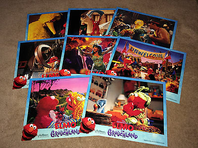 ELMO IN GROUCHLAND Lobby Card Posters 1999 Sesame Street Jim Henson Muppets