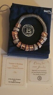 NEW Nature's Healing Touch Copper Bracelet with Swarovski crystal RRP NEW £79.96