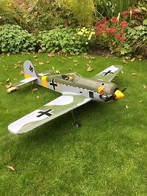 "Scale FW190 RC Aircraft 56"", ASP-80 Four Stroke, Receiver, Retracts , Servos"