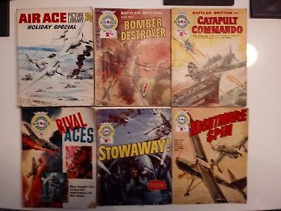 6 Air Ace Picture Library Comics