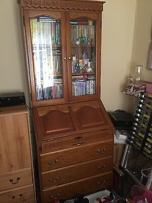 Writing Bureau Display Cabinet