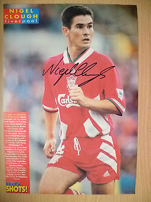 100% Genuine Hand Signed Press Cutting of Liverpool FC Player - NIGEL CLOUGH